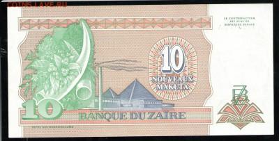 ЗАИР 10 НОВЫХ МАКУТА 1993 UNC - 24 001