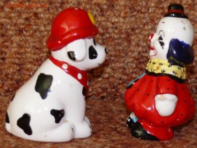 Набор для специй Клоун и собака. фарфор. - соль2.JPG