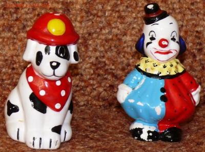 Набор для специй Клоун и собака. фарфор. - соль1.JPG