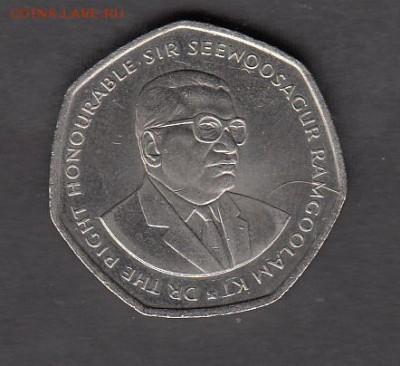 Маврикий 1997 10 рупий  без оборота до 27 08 - 211