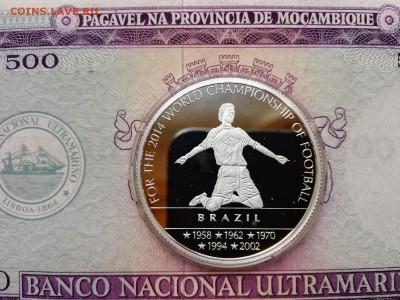 Камерун. 100 франков 2012 г. Proof. Футбол. До 29.08.19. - 06