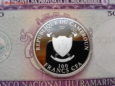 Камерун. 100 франков 2012 г. Proof. Футбол. До 29.08.19. - 07