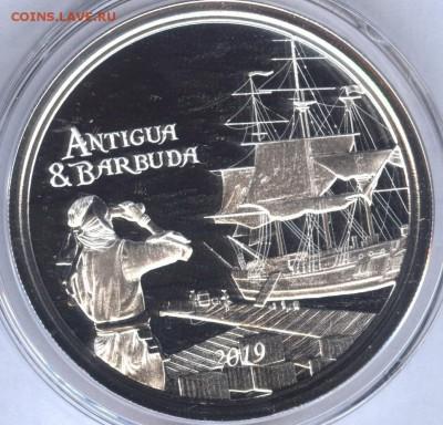 Монеты с Корабликами - Antigua 2019