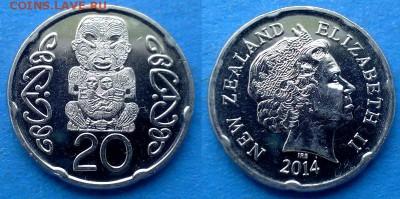 Новая Зеландия - 20 центов 2014 года до 9.09 - Новая Зеландия 20 центов, 2014