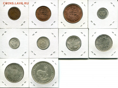 Юж.Африка подборка 1ф-5Ш Елизавета II до 13.09.19 22-00 мск - SA dif-r