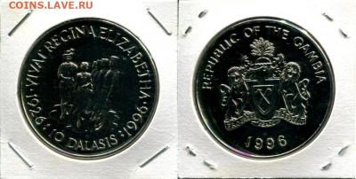 Гамбия 10 даласи 1996 до 13.09.19 22-00 мск - Gambia 10D 1996 70QEII