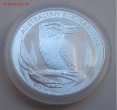 1$ Австралия.KOOKABURRA, 2012г. унция 999.до 17.09.19г.22:00 - 20190911_140124