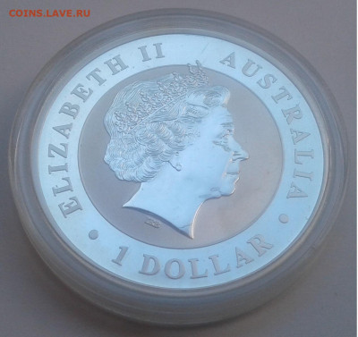 1$ Австралия.KOOKABURRA, 2012г. унция 999.до 17.09.19г.22:00 - 20190911_140141