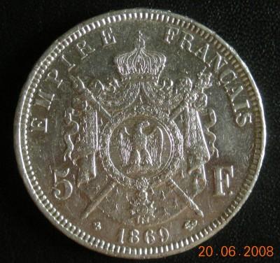 5 франков Наполеон III 1869 - DSCN1544