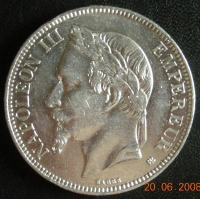 5 франков Наполеон III 1869 - DSCN1543