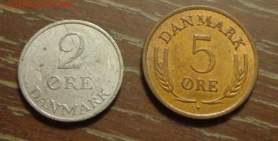 ДАНИЯ - 2 и 5 эре 1968, 69 до 11.10, 22.00 - Дания 2 и 5 марок_1