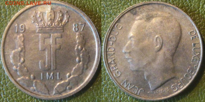 Только сутки Лихтенштейн 5 франков 1987г до 09-10 в 22-00 мс - Лихтенштейн 5 фр
