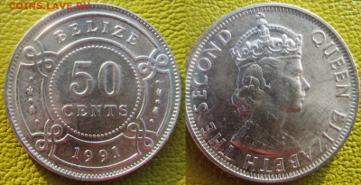 БЕЛИЗ 50 центов 1991 г До 22-10 в 22-00мск - Белиз