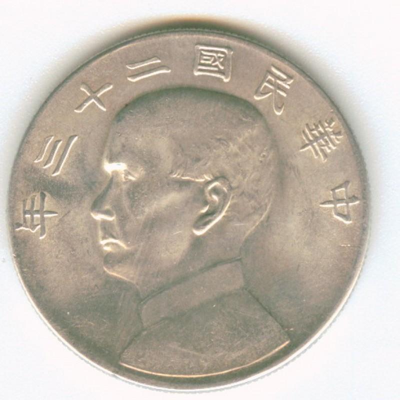 "Китай доллар 1934 ""ДЖОНКА"", серебро до 30.06 - Image11"