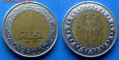 Египет - 1 фунт 2008 года (БИМ) до 9.11 - Египет 1 фунт, 2008