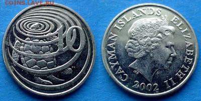 Каймановы острова - 10 центов 2002 года (Черепаха) до 9.11 - Каймановы острова 10 центов, 2002