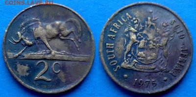 ЮАР - 2 цента 1975 года (Фауна) до 9.11 - ЮАР 2 цента, 1975