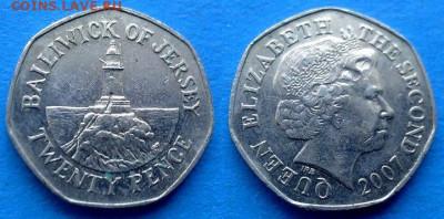 Джерси - 20 пенсов 2007 года до 9.11 - Джерси 20 пенсов, 2007