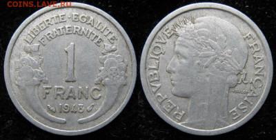 39.Монеты Франции 1931-1958г. - 39.16. -Франция 1 франк 1948    1176