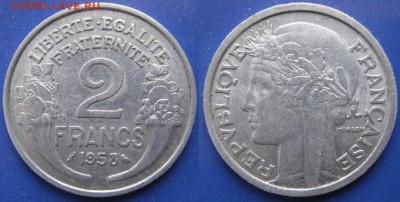 39.Монеты Франции 1931-1958г. - 39.25. -Франция 2 франка 1958    160-кл1-5965