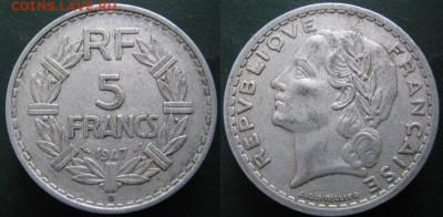 39.Монеты Франции 1931-1958г. - 39.33. -Франция 5 франков 1947 В   487