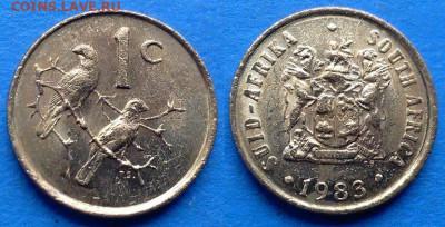 ЮАР - 1 цент 1983 года до 14.11 - ЮАР 1 цент, 1983