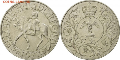 Англия. - 25 New Pence Great Britain Coin 1977