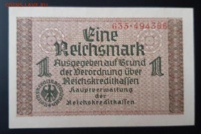 Германия Оккупация 1 рейхсмарка 1939 - 1945 UNC - 20191120_112932