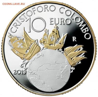 Монеты с Корабликами - 2019_ri_10e_colombo_proof_r