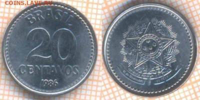 Бразилия 20 сентаво 1986 г., до 12.12.2019 г. 22.00 по Москв - Бразилия 20 сентаво 1986  8350