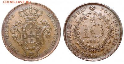 Португальские колониии. - Португальские Азорские острова 10 рейс 1865