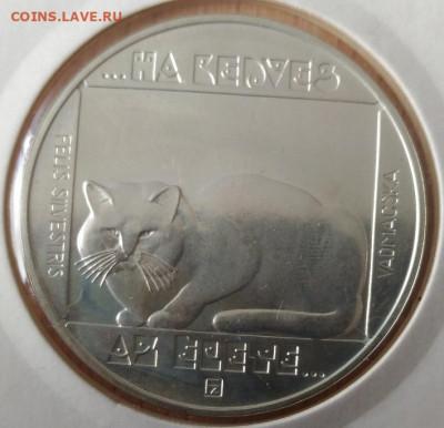 Кошки на монетах - Венгрия 200 форинтов дикая кошка реверс 1985