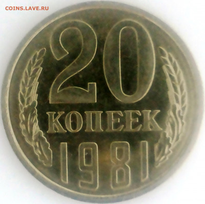 20 копеек 1981 года шт.3.1 Б ? - 20200103_132616