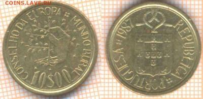 Португалия 10 эскудо 1987 г., до 15.01.2020 г. 22.00 по Моск - Португалия 10 эскудо 1987 8565