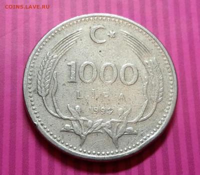 1000 лир 1991 год. Турция. До 15.01.20 в 22.15 МСК - 2020-01-12 00.17.59