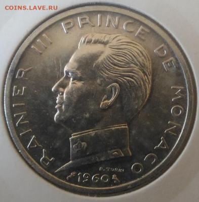 Монако 5 франков регулярный чекан 1960 - Монако 5 франков 1960 аверс