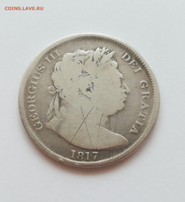 2 кроны серебро 1817 года на оценку - 1