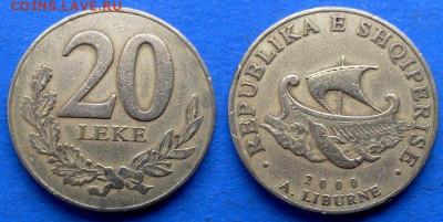 Албания - 20 леков 2000 года (Галера) до 21.01 - Албания 20 леков, 2000