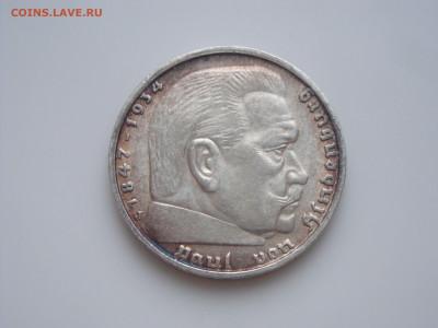 """Третий Рейх, 5 Марок 1939 """"J"""", Гинденбург, до 17.01 - 1939J (2)"""