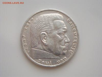 """Третий Рейх, 5 Марок 1937 """"F"""", Гинденбург, до 17.01 - 1937.2.JPG"""