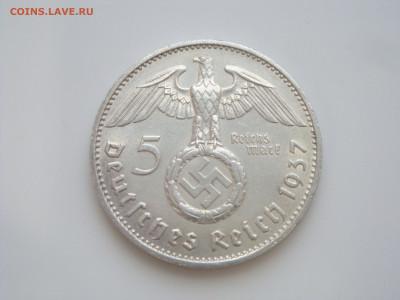 """Третий Рейх, 5 Марок 1937 """"F"""", Гинденбург, до 17.01 - 1937.1"""