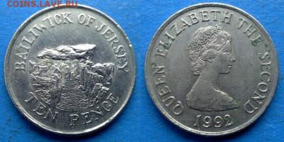 Джерси - 10 пенсов 1992 года до 21.01 - Джерси 10 пенсов, 1992