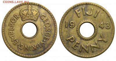 Фиджи - Фиджи Пенни 1943