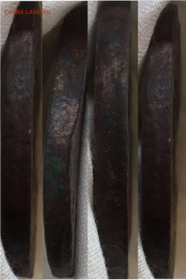 5 копеек 1758г перечекан или двойной удар - гурт