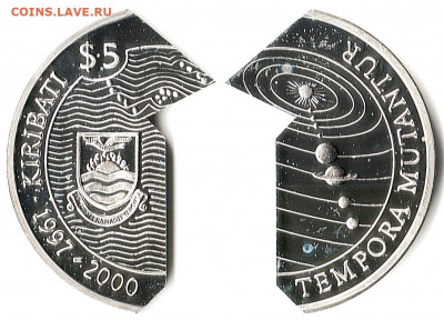 Кирибати - Кирибати 5 долларов ND-1997 KM-24 PF65-25 1139