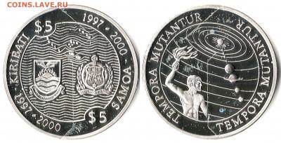 Кирибати - Кирибати 5 долларов ND-1997 KM-24 PF65-25 Самоа 5 тала ND-1997 KM-117 PF65-27 2278