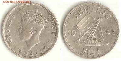 Фиджи - Фиджи 1 шиллинг 1942 S KM-12a