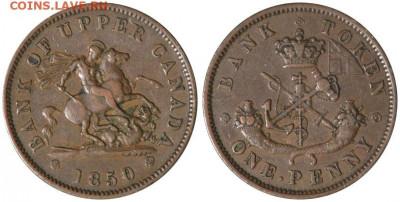 Банковские токены Канады. Описание, типы, разновидности. - token-upper-canada-bank-penny-1850-vf20-3-g