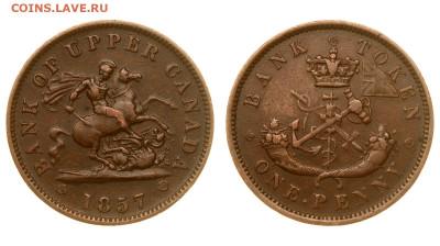 Банковские токены Канады. Описание, типы, разновидности. - 1857
