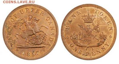 Банковские токены Канады. Описание, типы, разновидности. - token-upper-canada-bank-penny-1857-g